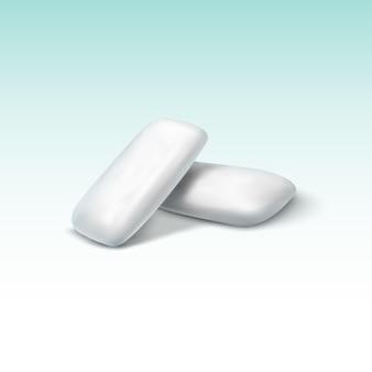 Chewing-gum sur vert dégradé