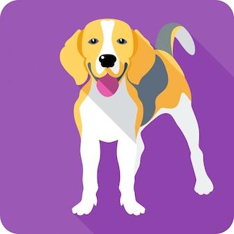 Chien beagle clipart design plat