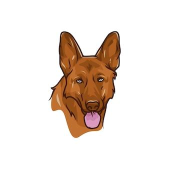 Chien de berger allemand - logo vector / icône illustration mascotte