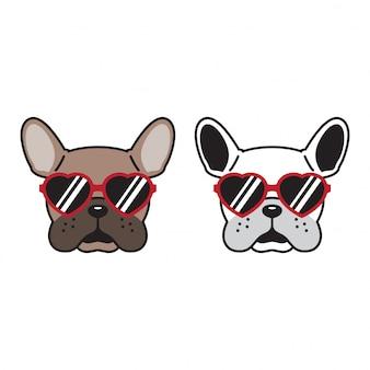 Chien chien bulldog français lunettes de soleil chiot