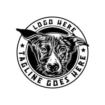 Chien logo handrawn vintage