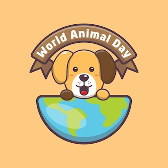 Chien mignon à l'événement de la journée mondiale des animaux