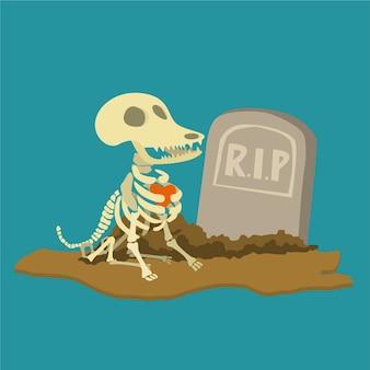Chien mort de dessin animé