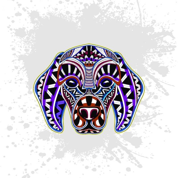 Chien de motif décoratif abstrait