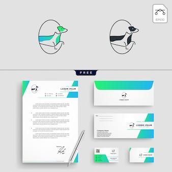 Chien pet shop logo modèle illustration vectorielle
