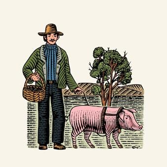 Chien porc et lagotto romagnolo