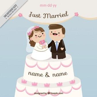 Chiffres nice sur un gâteau de mariage