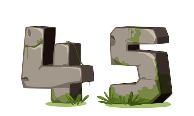 Chiffres en pierre