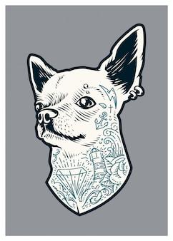 Chihuahua tatoué