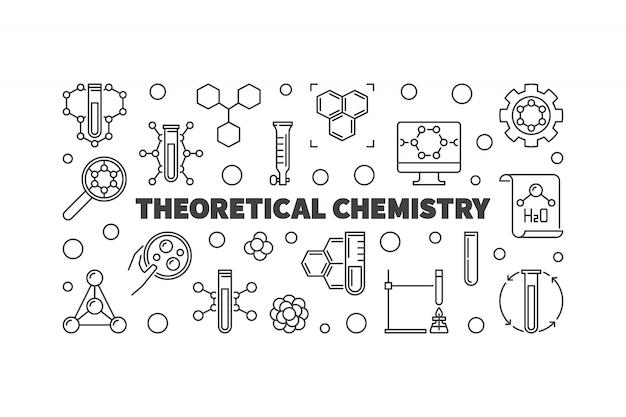 Chimie théorique contours illustration horizontale