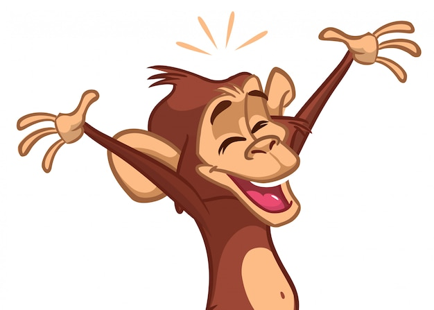 Chimpanzé de dessin animé