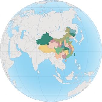 La chine est un pays d'asie de l'est sur le globe