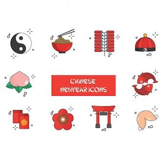 Chinise nouvelles icônes année