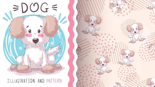 Chiot chien woof - modèle sans couture