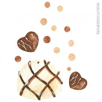 Chocolat et biscuit
