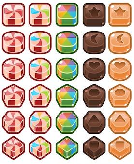 Chocolat bonbons match trois