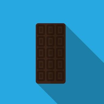 Chocolat plat icône illustration isolé vecteur signe symbole