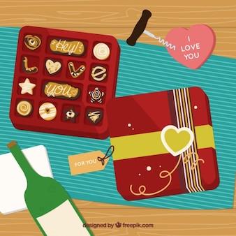 Chocolate cookies boîte