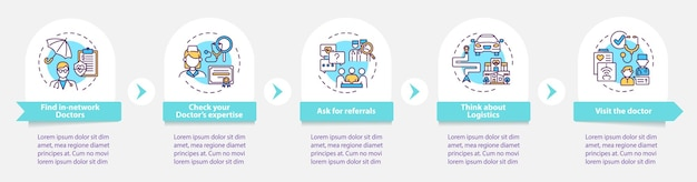Choisir le modèle d'infographie de conseils de médecin de soins primaires