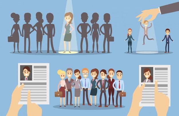 Choisissez un ensemble d'employés.