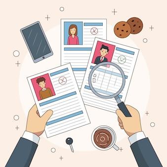 Choix du concept de travailleur illustré