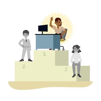 Choix de l'illustration de concept de travailleur