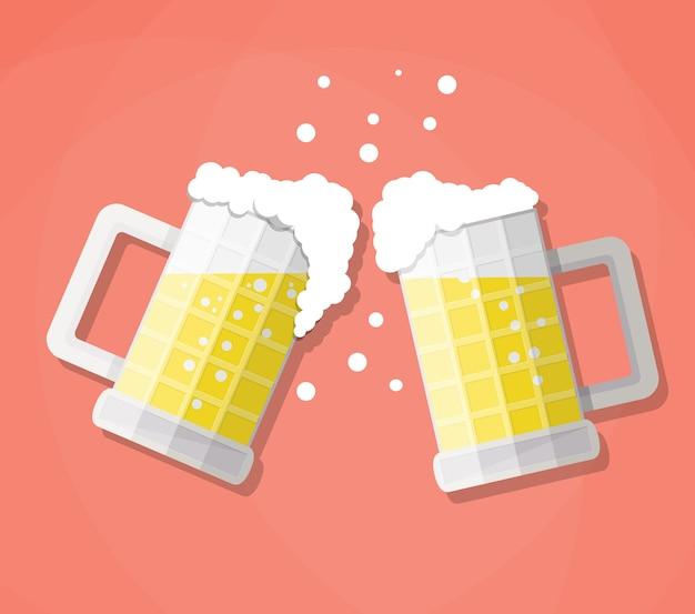 Chopes à bière clink