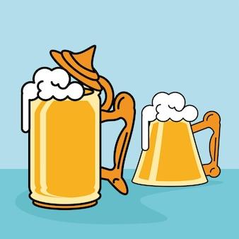 Chopes de bière