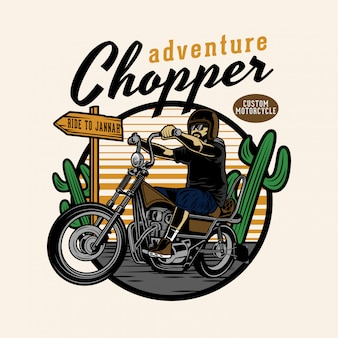 Chopper adventure dans le désert
