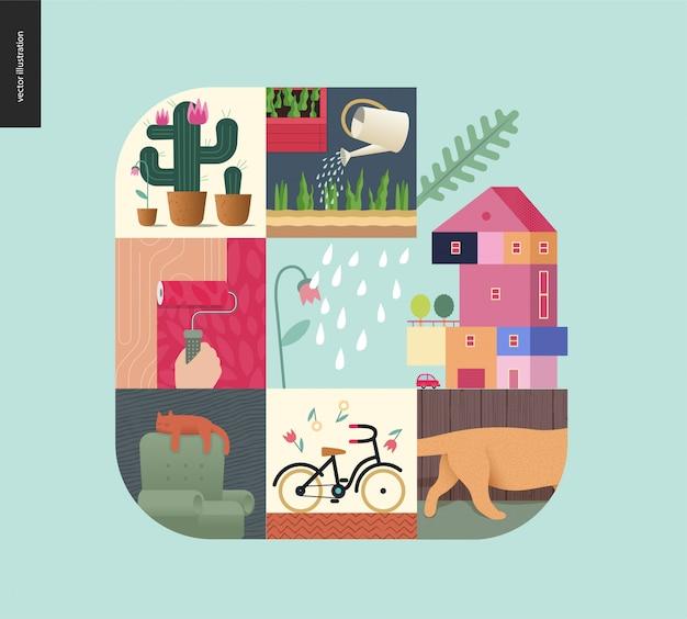 Choses simples, composition de la maison