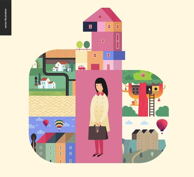 Des choses simples - composition des maisons