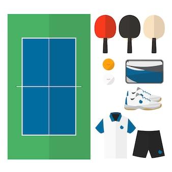 Choses de tennis de table.