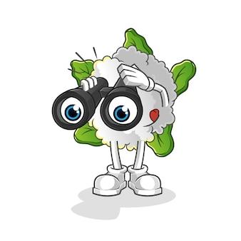 Chou-fleur avec caractère jumelles