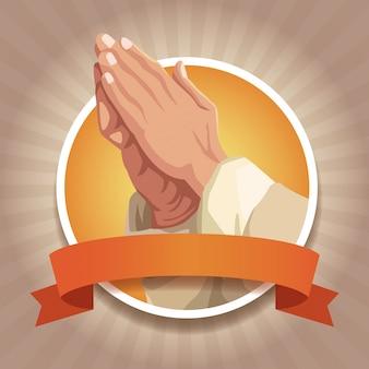 Christianisme autour des icônes avec ruban