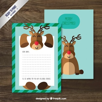 Christma lettre de rennes