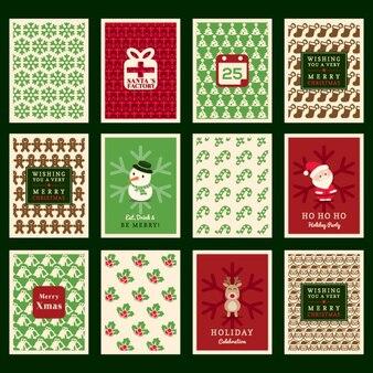 Christmas pattern background pour la carte d'invitation