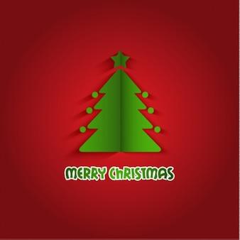 Christmas tree origami bakground