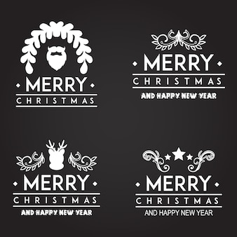 Christmas typography logo designs