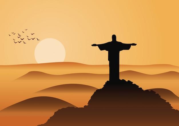 Christo jesus au brésil célèbre monument du monde