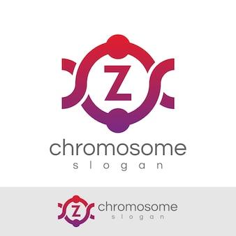 Chromosome initial lettre z logo design