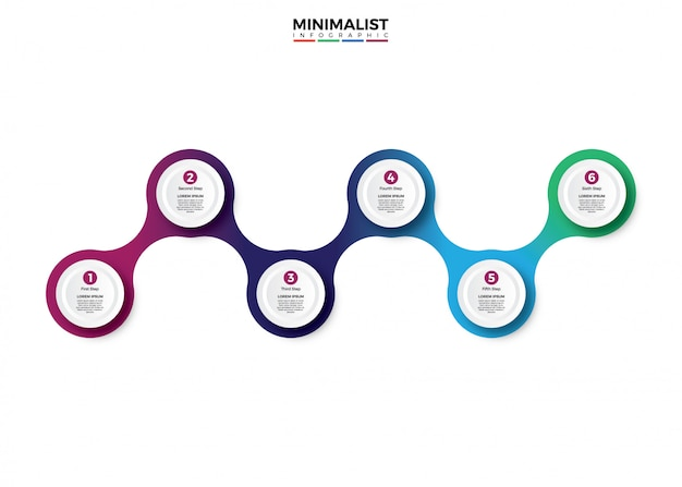 Chronologie de concept d'affaires modèle coloré