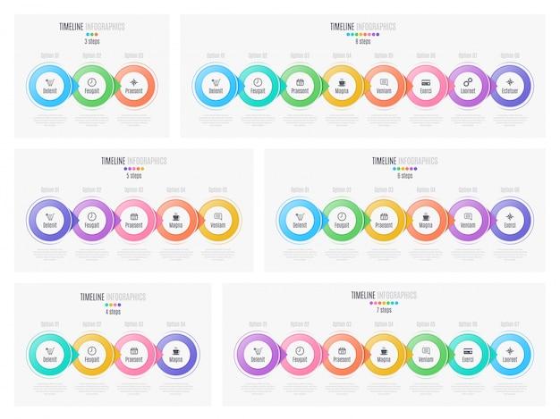 Chronologie infographique, présentation, rapport, conception de sites web