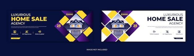 Chronologie de la page de couverture facebook de l'immobilier