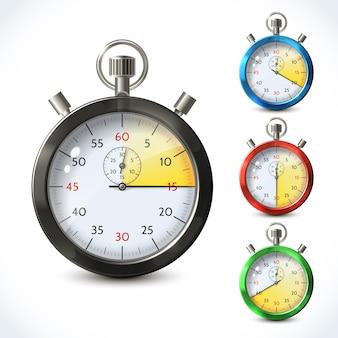 Chronomètre métallique réaliste