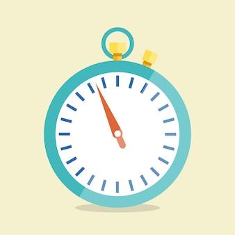 Chronomètre de vecteur. icône dans le style plat.