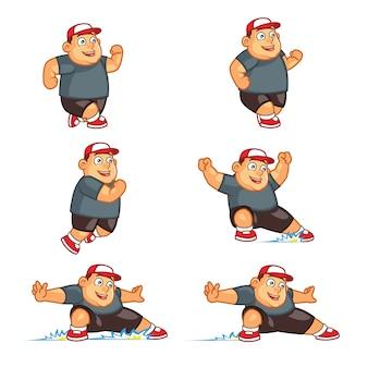 Chubby boy game animation sprite
