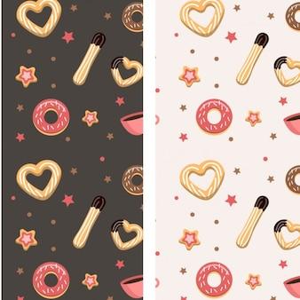 Churros et motif donuts