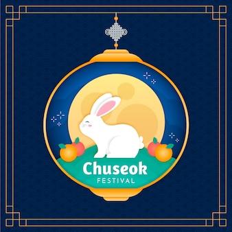 Chuseok dans le thème de style papier