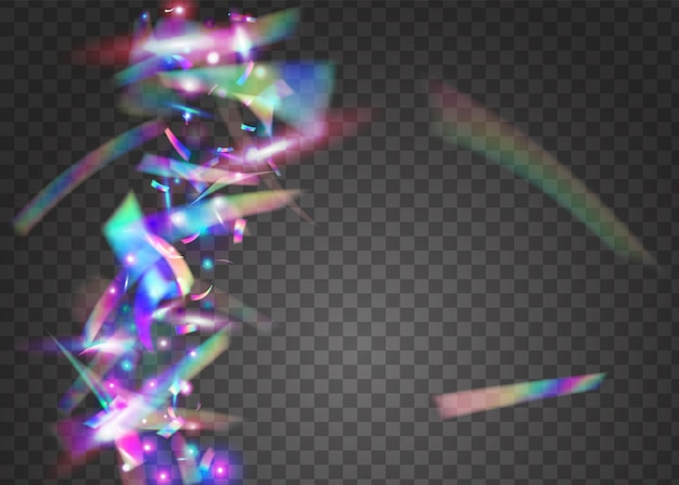 Chute d'étincelles. modèle multicolore en métal. glitch glitter. éblouissement transparent. bannière disco. art numérique. feuille de luxe. tinsel bleu brillant. paillettes tombantes violettes