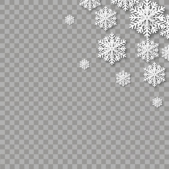 Chute de flocons de neige pour carte de voeux de noël ..
